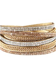 Bracciale con catenelle e strass, bpc bonprix collection
