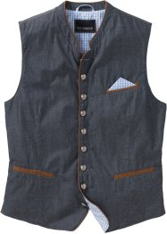 Gilet di jeans tradizionale regular fit, bpc selection