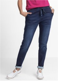 Jogger in jeans con coulisse, John Baner JEANSWEAR
