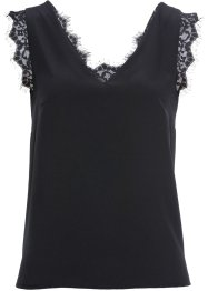 Top in mix di tessuti con pizzo, BODYFLIRT