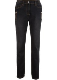 Jeans elasticizzato con ricamo, bpc bonprix collection