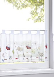 Tenda a vetro con fiori ricamati, bpc living bonprix collection
