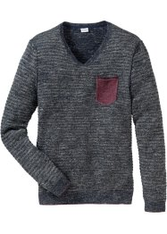 Pullover con scollo a V regular fit, John Baner JEANSWEAR