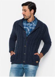 Cardigan a trecce regular fit, John Baner JEANSWEAR