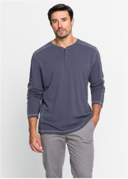 Maglia a manica lunga in piquet con bottoncini regular fit, bpc bonprix collection