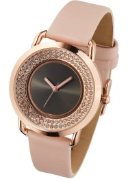 Orologio con bordo di strass, bpc bonprix collection