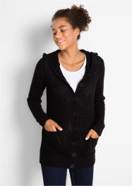 Cardigan con cappuccio, bpc bonprix collection