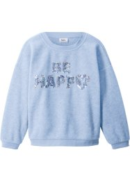 Pullover in pile con paillettes, bpc bonprix collection