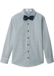 Camicia con papillon (2 pezzi) slim fit, bpc bonprix collection