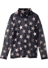 Blusa trasparente a stelle, bpc bonprix collection