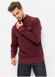 Pullover a collo alto con cerniera regular fit, bpc bonprix collection