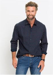 Camicia a manica lunga in microfantasia regular fit, bpc bonprix collection