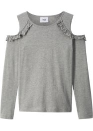 Maglia con cut-out e ruches, bpc bonprix collection