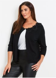 Cardigan con fiori applicati, bpc selection premium