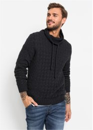 Pullover a collo alto con trecce regular fit, RAINBOW