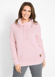 Maglione a collo alto con cordoncino, bpc bonprix collection