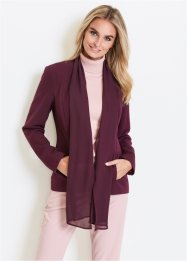 Blazer con collo a scialle in chiffon, bpc selection