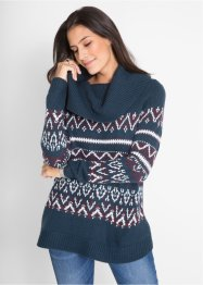 Pullover in stile norvegese con collo ampio, bpc bonprix collection