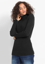 Maglione in cotone a collo alto, bpc bonprix collection