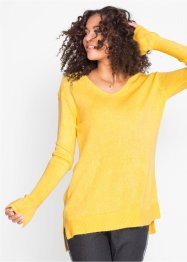 Pullover oversize con spacchi, bpc bonprix collection