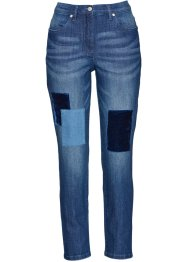 Jeans 7/8 con toppe in velluto, bpc selection