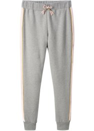 Pantalone in felpa con bande laterali, bpc bonprix collection