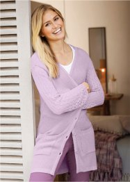 Cardigan con maniche traforate, bpc bonprix collection