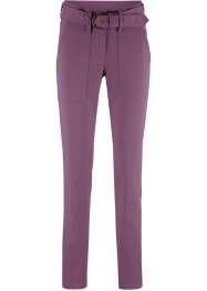 Pantalone con cintura in tessuto slim fit, bpc bonprix collection