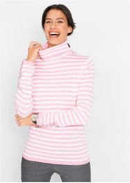Pullover a collo alto con bottoncini sulle maniche, bpc bonprix collection