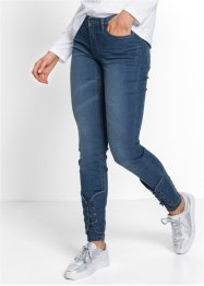 Jeans super skinny con stringhe, RAINBOW