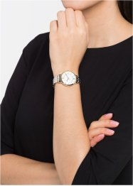 Orologio con cristalli Swarovski®, bpc bonprix collection