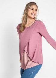 Blusa a strati con scollo rotondo, bpc bonprix collection