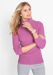 Pullover a collo alto con cotone riciclato, bpc bonprix collection