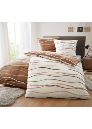 Biancheria da letto double face con onde, bpc living bonprix collection