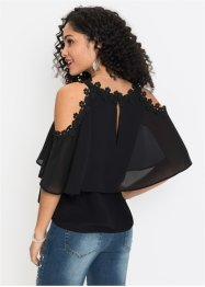 Blusa con cut-out e pizzo, BODYFLIRT