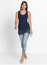Top in maglina con pizzo, BODYFLIRT