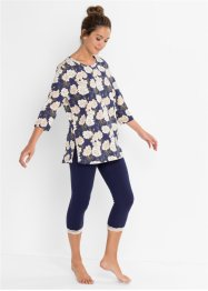 Pigiama con leggings a pinocchietto, bpc bonprix collection