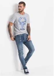 Jeans in felpa regular fit tapered, RAINBOW