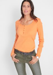 Maglia con bottoncini a manica lunga, bpc bonprix collection