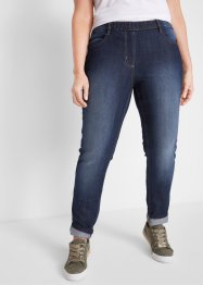 Jeggings di jeans con cinta comfort straight, bpc bonprix collection