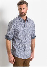 Camicia in fantasia floreale a manica lunga slim fit, bpc selection