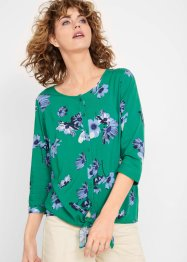 Camicia a fiori con manica a 3/4, bpc bonprix collection