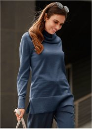 Pullover in lana merino con collo a ciambella, bpc selection premium