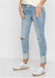Jeans skinny cropped con inserto, RAINBOW