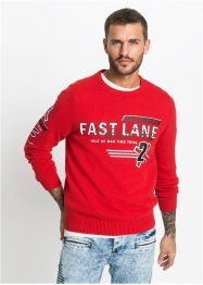 Pullover con cotone riciclato regular fit, RAINBOW