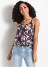 Top in jersey a fiori, BODYFLIRT