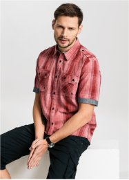 Camicia a quadri con taglio speciale, bpc bonprix collection