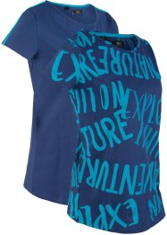 T-shirt per sport (pacco da 2) in cotone, bpc bonprix collection