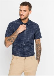 Camicia fantasia a maniche corte slim fit, bpc selection