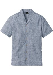 Camicia a maniche corte in misto lino, bpc bonprix collection